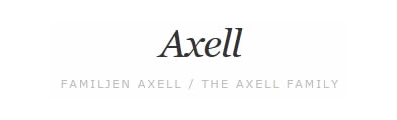 Axell - The Axell Family